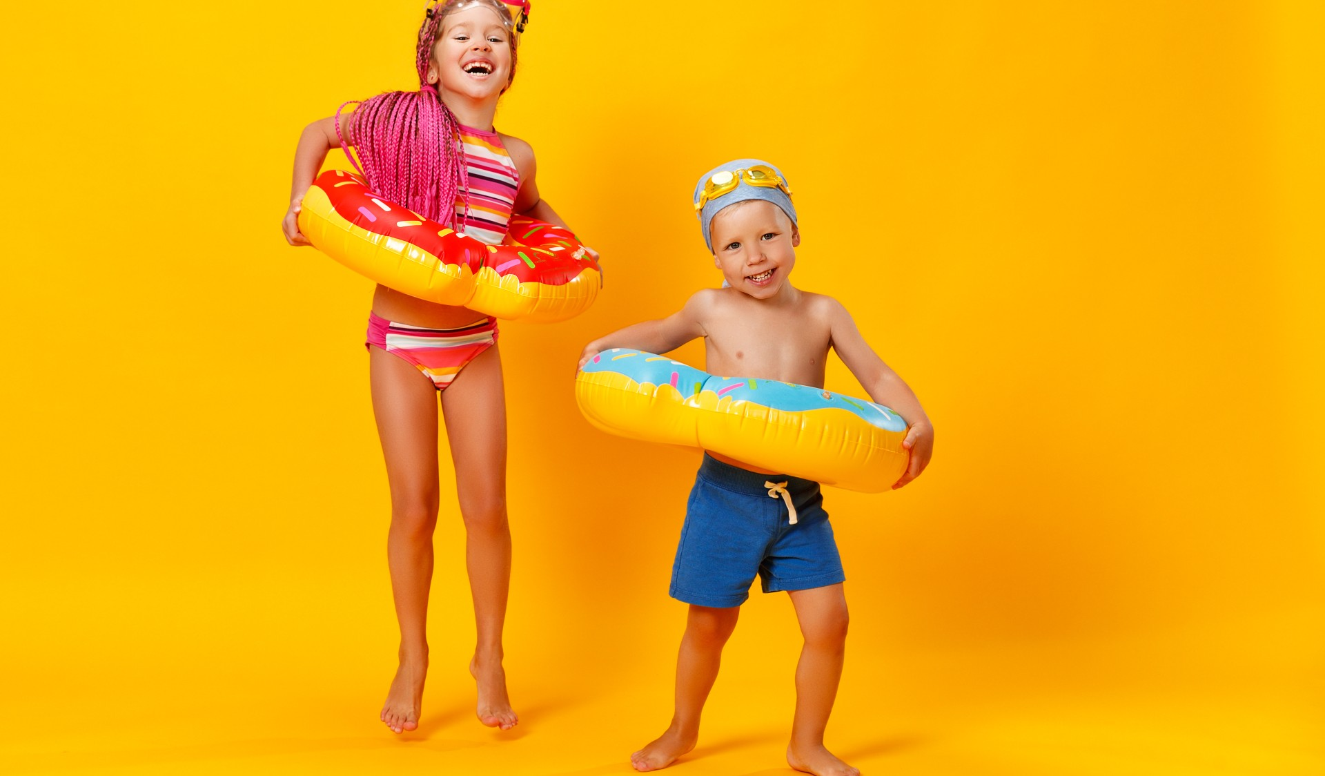 Moda praia para crianças? Tem sim!