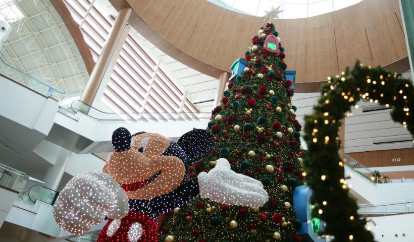 Mickey e amigos dão as boas-vindas ao Natal RioMar