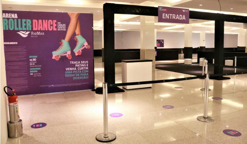 Arena Roller Dance: diversão sobre patins no RioMar