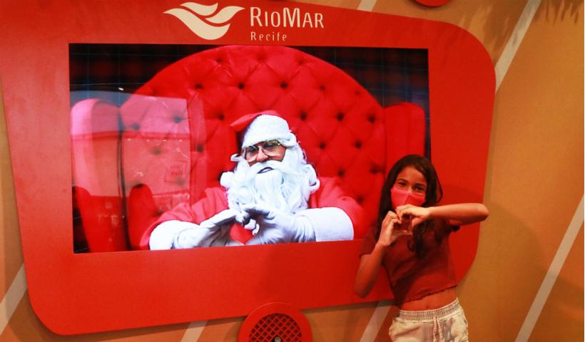 Qual seu sonho? Vem contar ao Papai Noel Digital no RioMar