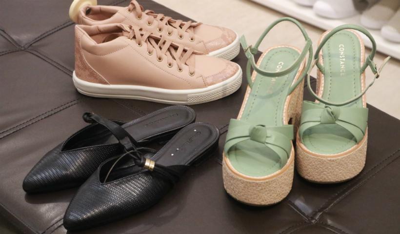 Liquidação da Constance com calçados para todos os estilos