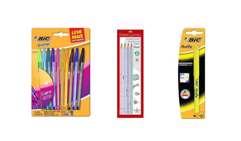Canetas, lápis e marcadores na Volta às Aulas do RioMar Online