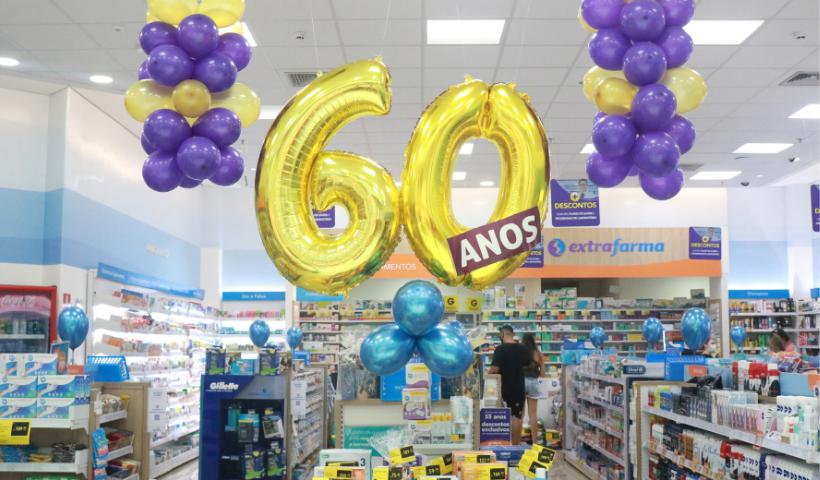 Extrafarma comemora 60 anos com ofertas especias