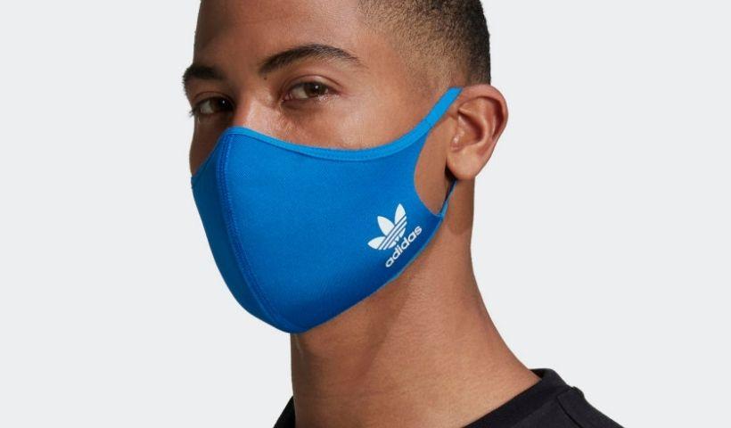 Máscara de proteção Adidas disponível no RioMar Online