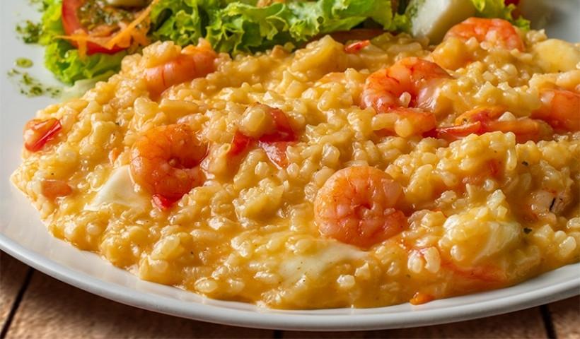 Risoto de camarão a vegetariano no RioMar Online